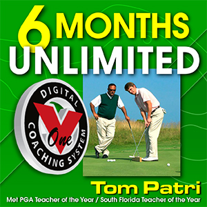 6 months unlimited V1 Video Golf lessons